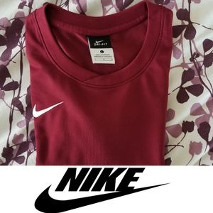 Youth Nike Dri Fit Athletic Maroon Shirt